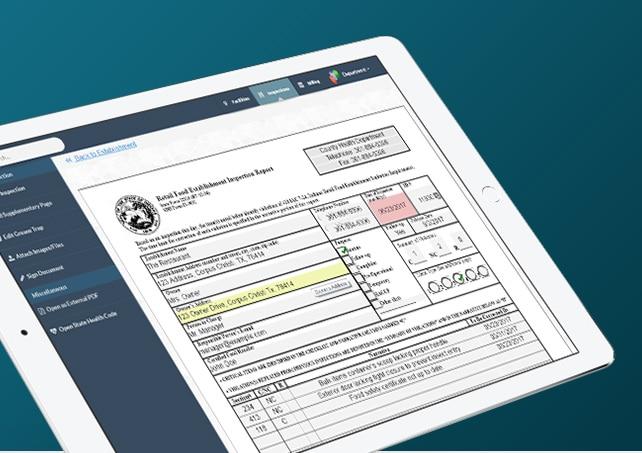 InspectHub Inspection form screen shot