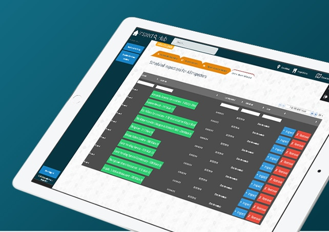 InspectHub system screen shot